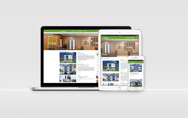 Những mẫu cho khách hàng lựa chọn trên website công ty