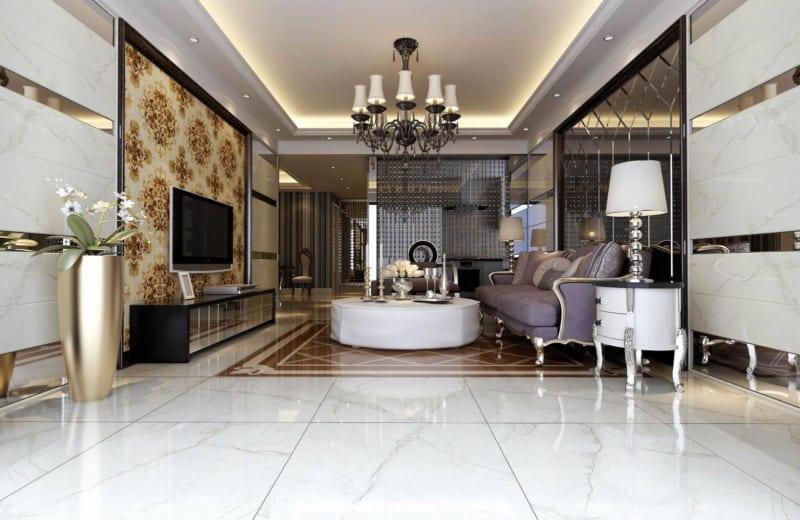 mẫu gạch lát nền đẹp cho phòng khách