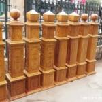 Báo giá trụ cầu thang gỗ Lim