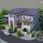 Tổng hợp mẫu biệt thự 3 tầng mái thái đẹp với thiết kế hút hồn