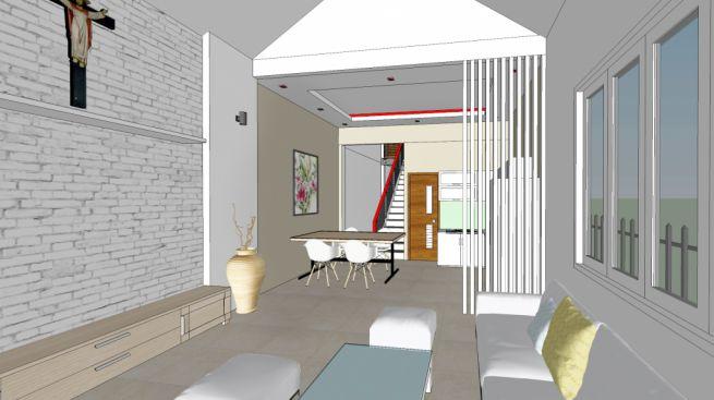 Phối cảnh 3D nội thất phòng khách