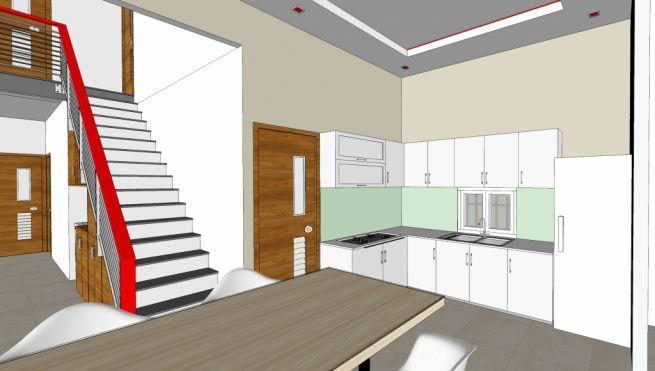 Phối cảnh 3D nội thất nhà bếp